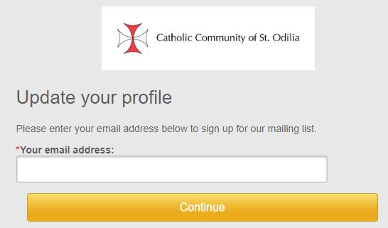 Receive Parish Emails